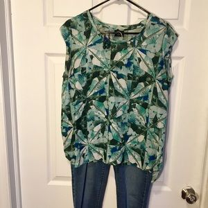 🎉SALE🎉 Blue/Green Mossimo Blouse, size Large